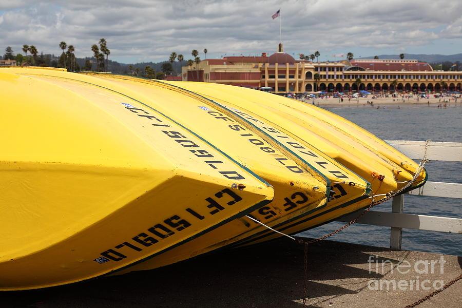 California Photograph - Rental Boats On The Municipal Wharf At Santa Cruz Beach Boardwalk California 5d23795 by Wingsdomain Art and Photography