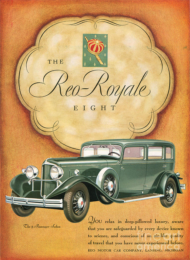 Adverts Drawing - Reo Royale 1931 1930s Usa Cc Cars by The Advertising Archives