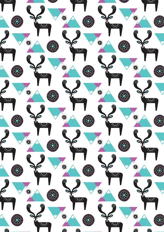 Susan Claire Photograph - Repeat Print - Folk Deer by Susan Claire