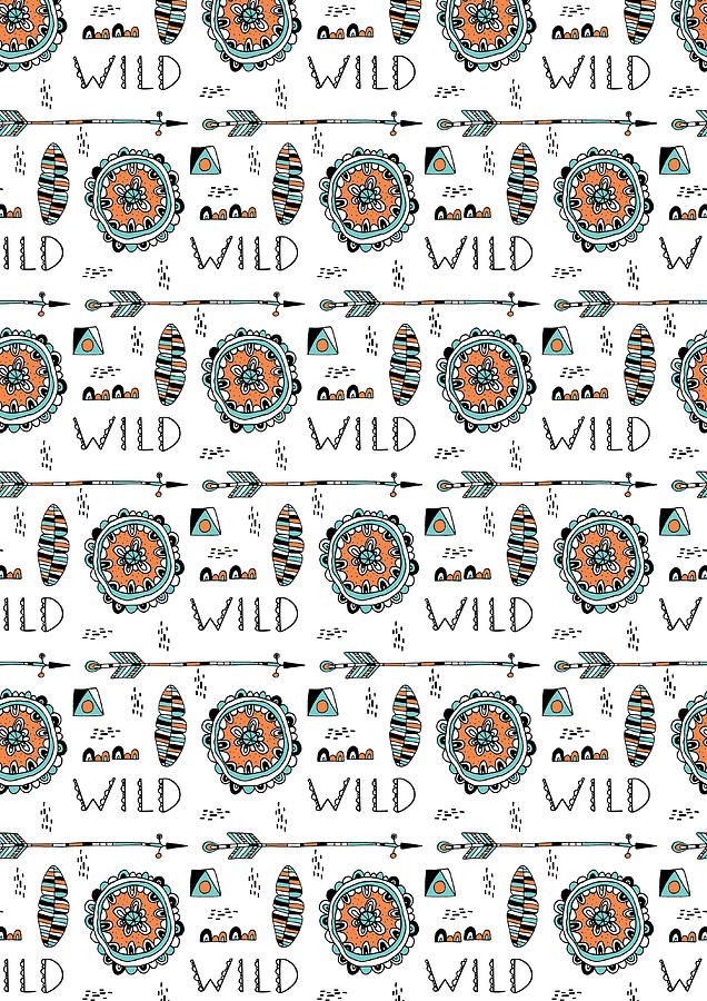 Pattern Photograph - Repeat Print - Wild by Susan Claire