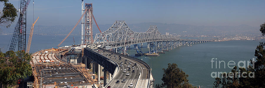 Eastern Photograph - Replacement Of The Easter Span San Francisco Oakland Bay Bridge From Yerba Buena Island Oct 9th 2011 by California Views Archives Mr Pat Hathaway Archives
