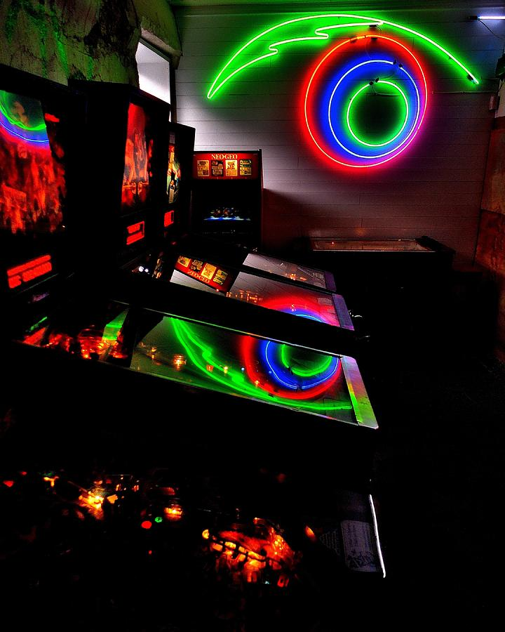 80s Photograph - Replicant Arcade by Benjamin Yeager