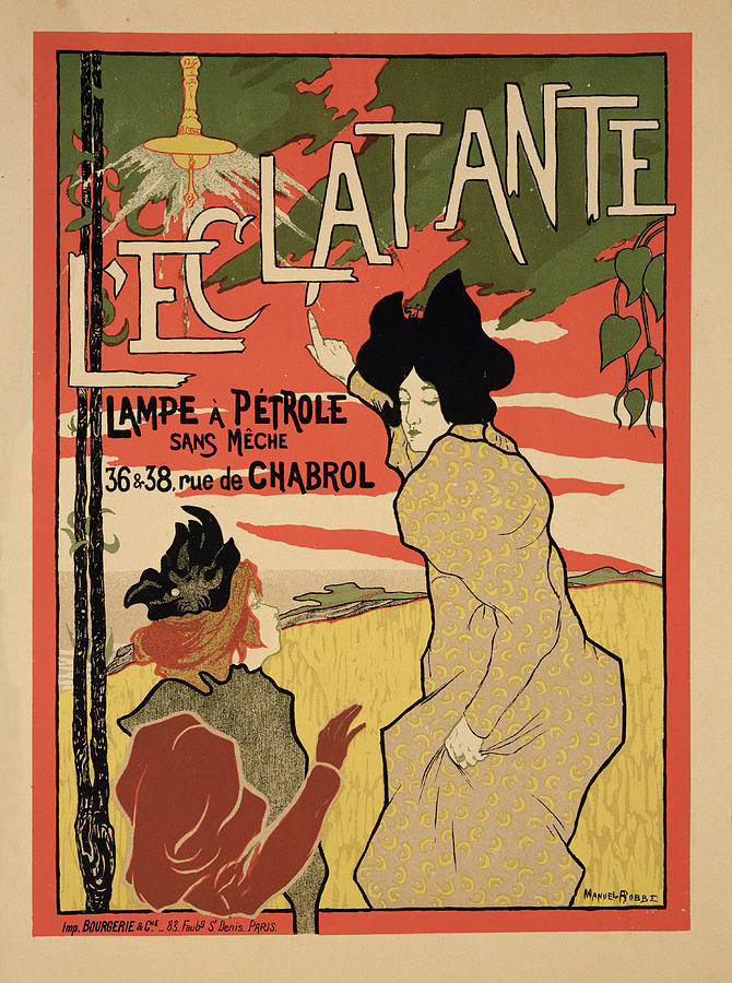 Dazzling Drawing - Reproduction Of A Poster Advertising by Manuel Robbe