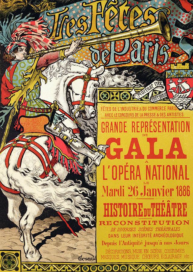Reproduction Of A Poster Advertising The Fetes De Paris ...