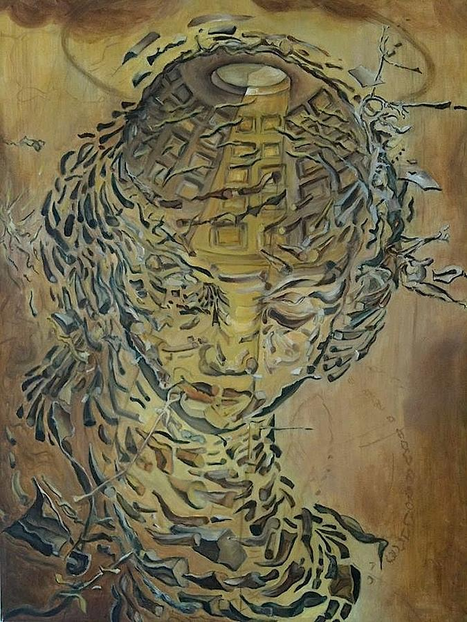 Reproduction Of Dali S Head Exploding Painting By Yana Ashim