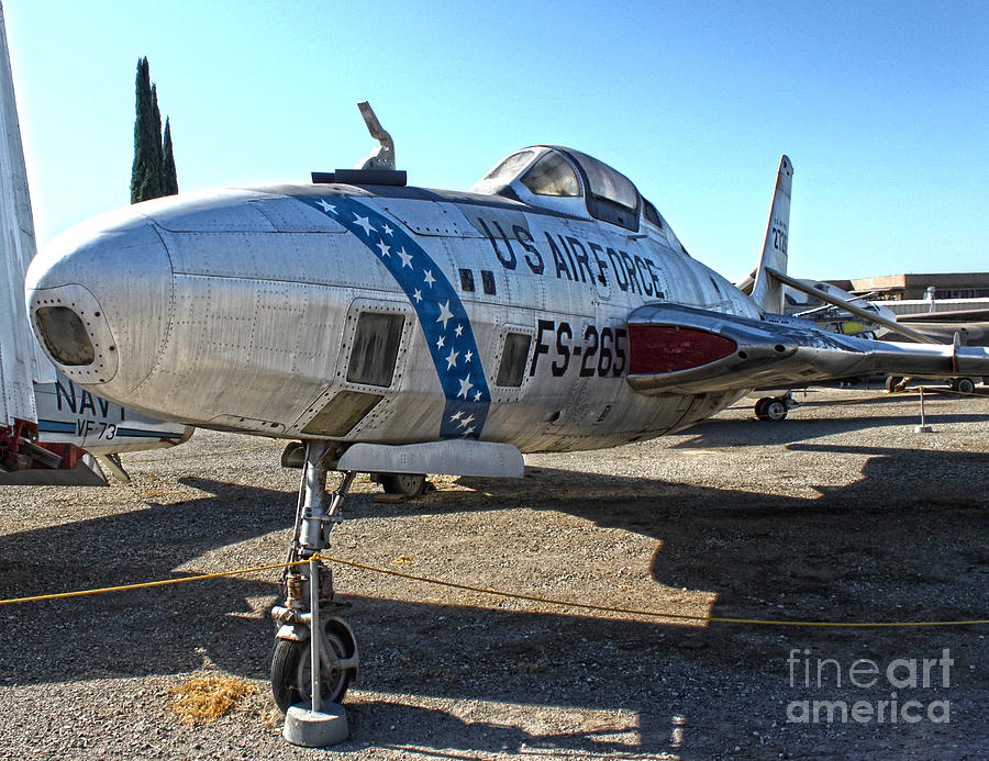 Aircraft Photograph - Republic Thunderflash Rf-84k - 02 by Gregory Dyer