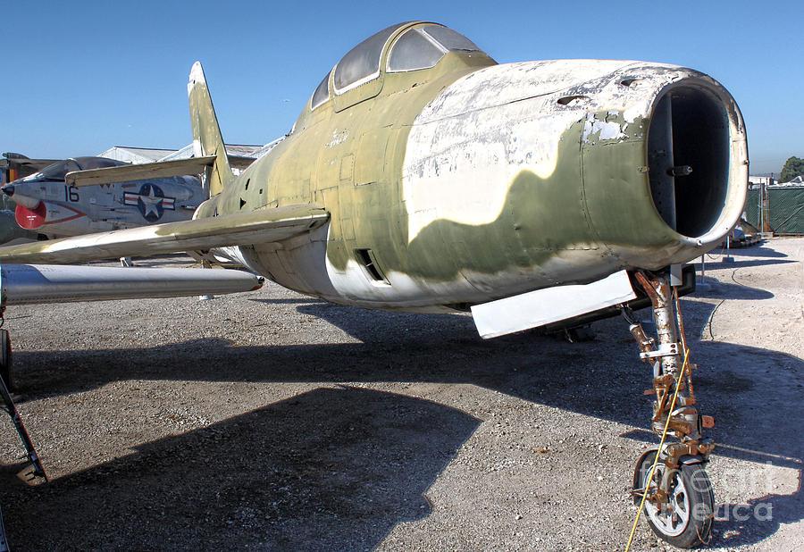 Republic Thunderstreak F-84f Photograph - Republic Thunderstreak F-84f by Gregory Dyer