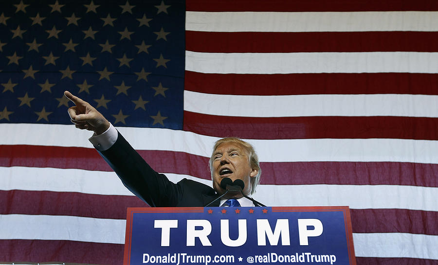 Republican Presidential Candidate Donald Trump Holds Rally In Mesa, Arizona Photograph by Ralph Freso