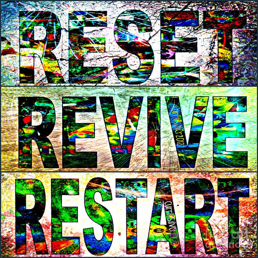 Reset Digital Art - Rerere 2012 by Currie Silver