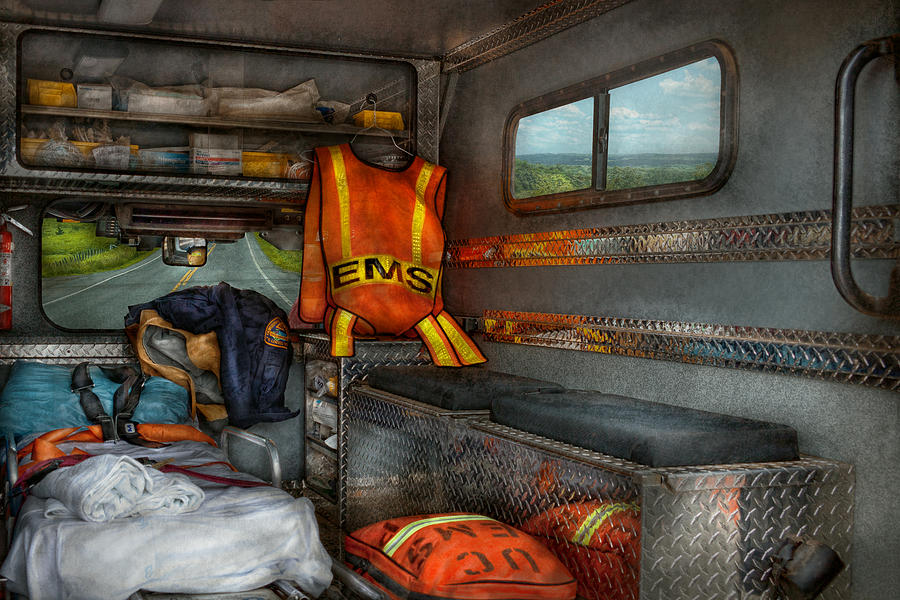 Rescue Photograph - Rescue - Emergency Squad  by Mike Savad