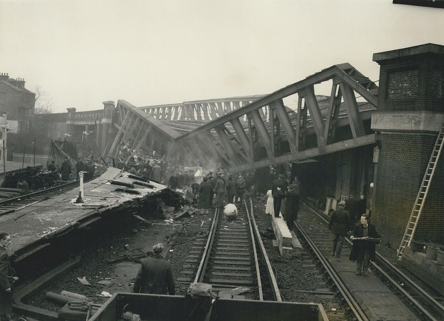 Retro Photograph - Rescue Work Goes On In The Lewisham Rail Crash Engineers by Retro Images Archive
