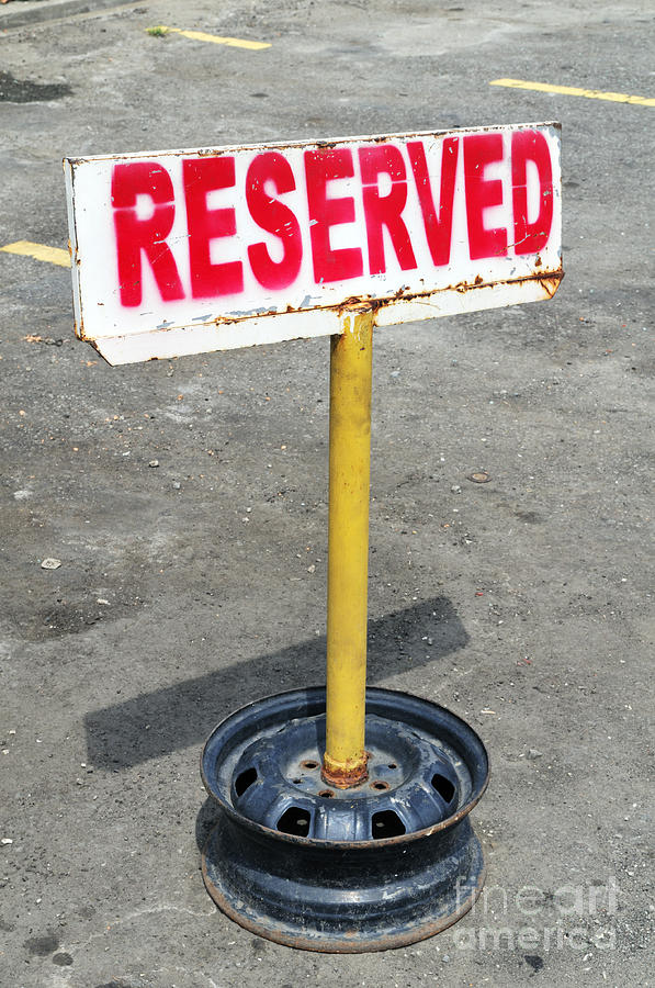 Signage Photograph - Reserved Signpost by William Voon