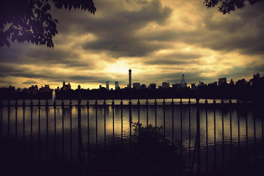 Pond Photograph - Central Park Reservoir by Jessica Jenney