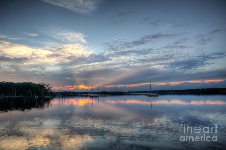Manasquan Reservoir Photograph - Reservoir Sunset by Michael Ver Sprill