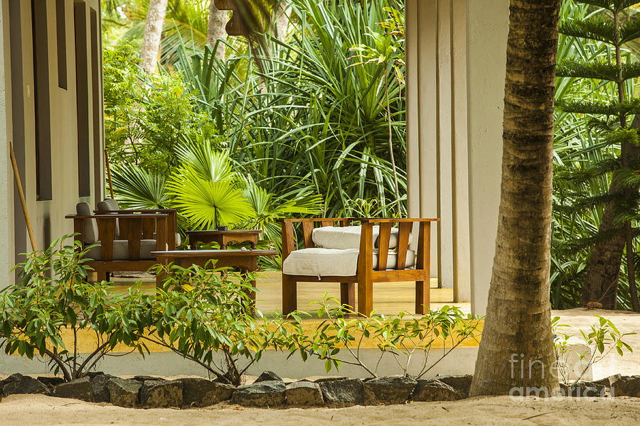 Architecture Photograph - Resort Bungalow Near The Beach by Patricia Hofmeester