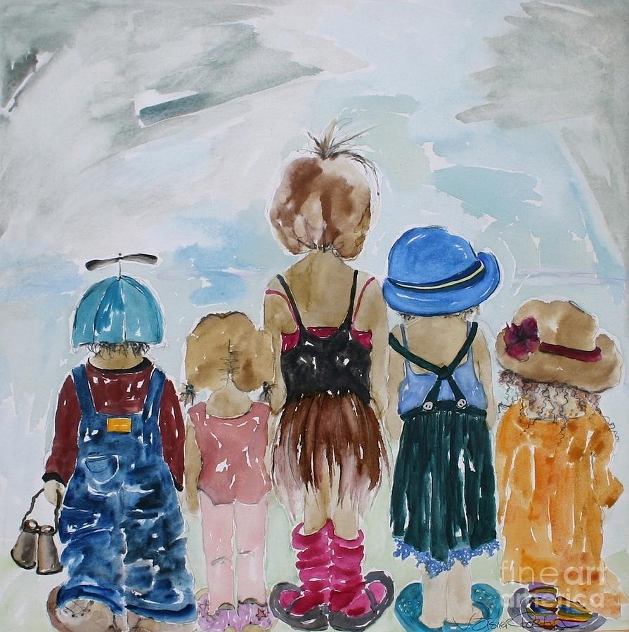 Vicki Aisner Porter Painting - Respectively Dedicated To Childhood by Vicki Aisner Porter