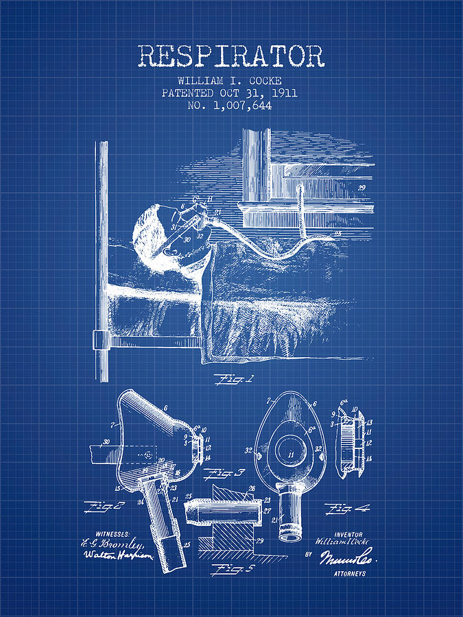 Respirator patent from 1911 blueprint digital art by aged pixel respirator digital art respirator patent from 1911 blueprint by aged pixel malvernweather Image collections