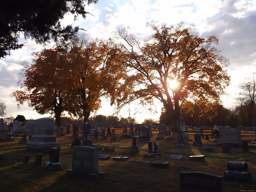 Grave Yard Photograph - Rest In Fall 2 by Shannon Freeman