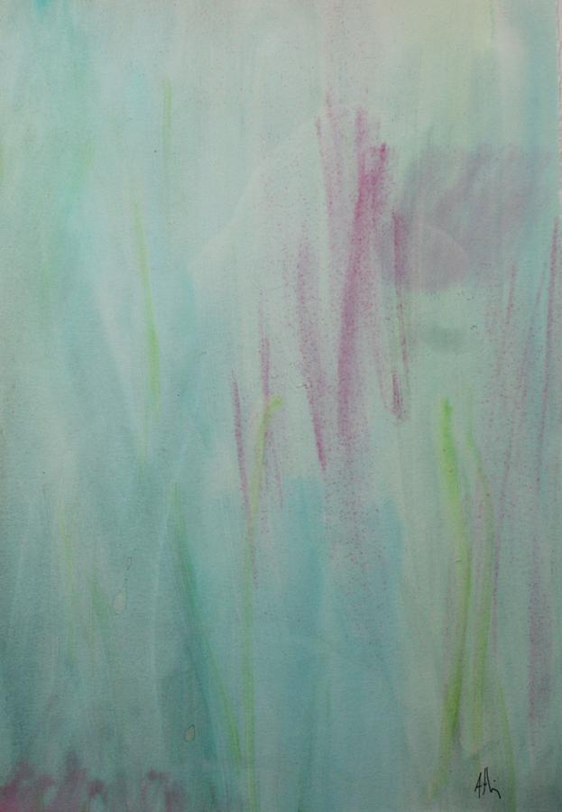 Abstract Painting - Rest by Tom Atkins