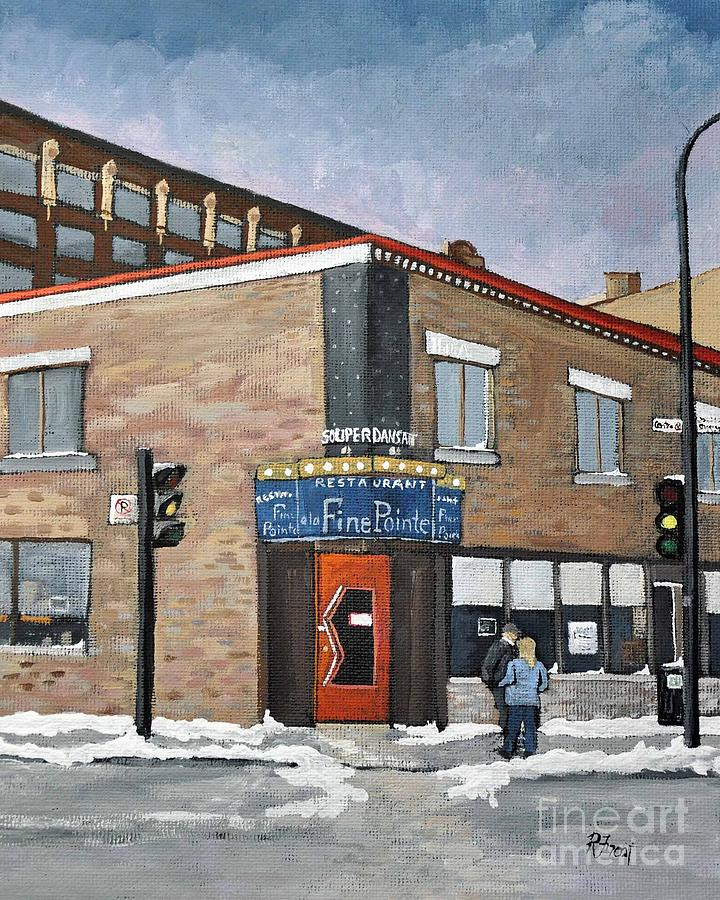 The Fine Pointe Painting - Restaurant A La Fine Pointe by Reb Frost