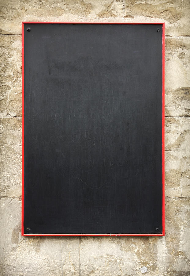 Restaurant Blackboard Photograph by Henry Sparrow and Kirsten Fowle