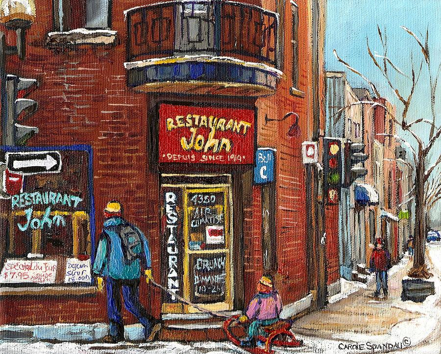 Restaurant John Painting - Restaurant John by Carole Spandau