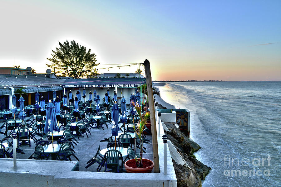 Restaurant On Fort Myers Beach Florida Photograph By Timothy Lowry