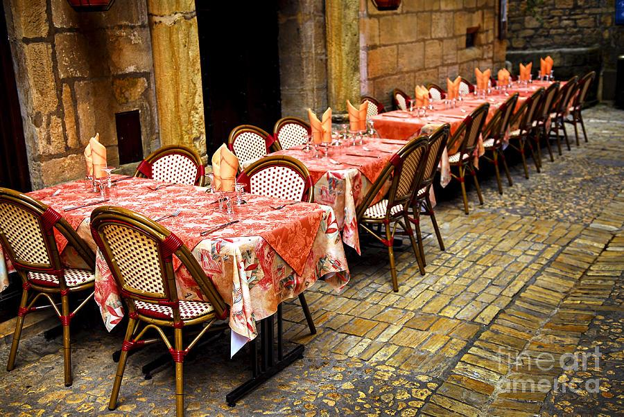 Restaurant Photograph - Restaurant Patio In France by Elena Elisseeva