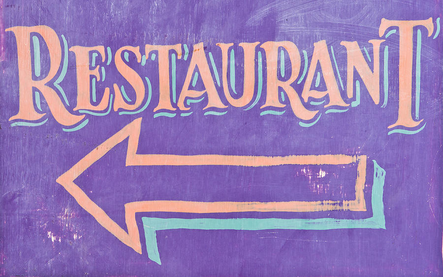 Arrow Photograph - Restaurant by Tom Gowanlock