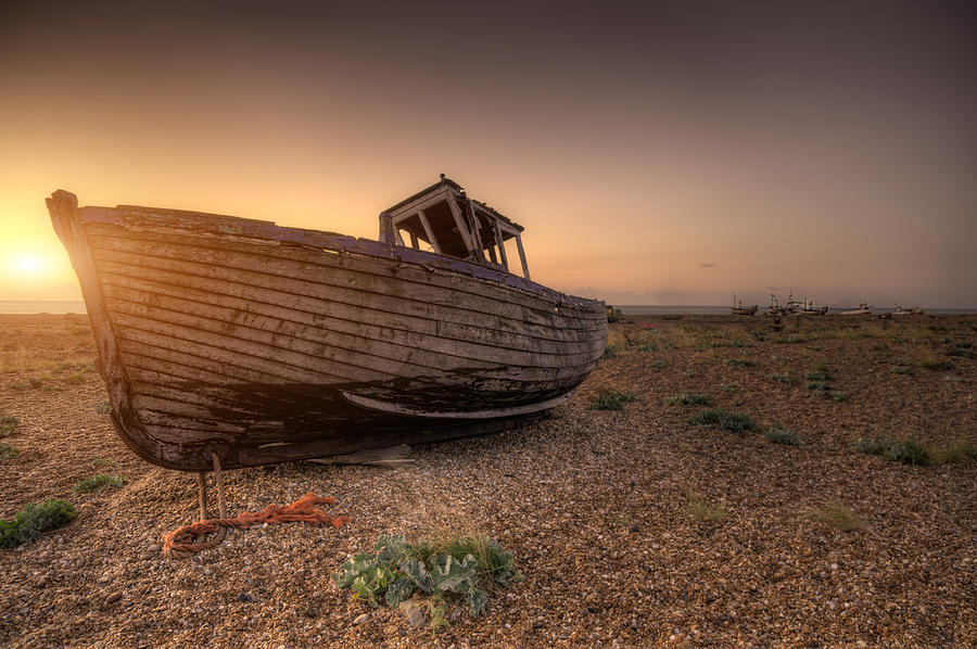 Boat Photograph - Rested Six by Jason Green