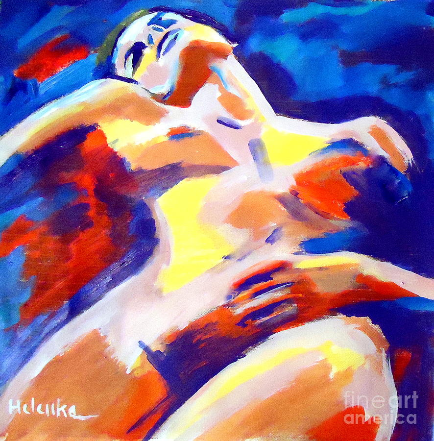 Nude Figures Painting - Restful Nude by Helena Wierzbicki