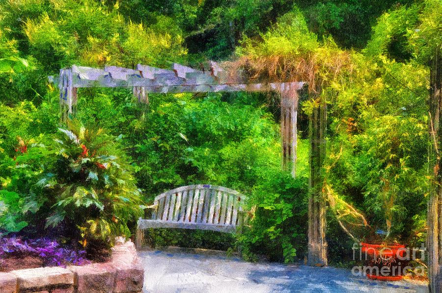 Bench Photograph - Restful Retreat by Lois Bryan