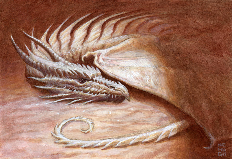 Dragon Painting - Restful Wyrm by Jeremy McHugh