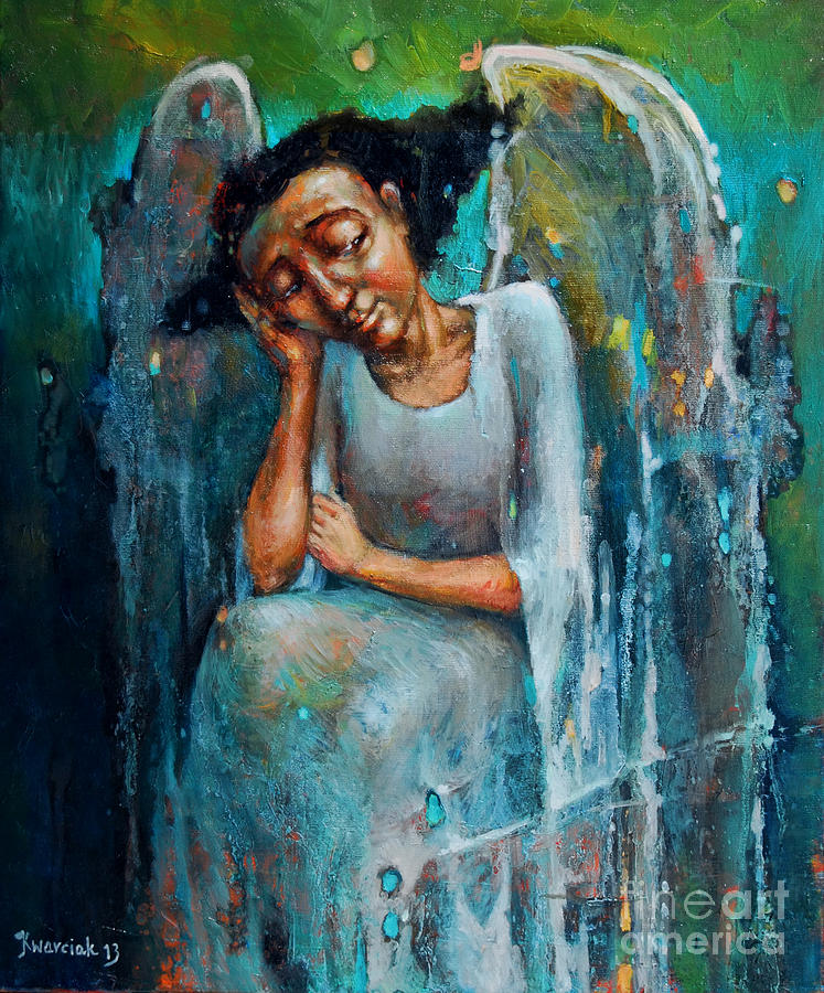 Michal Painting - Resting Angel by Michal Kwarciak