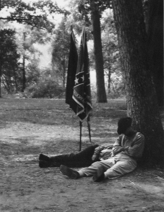 Black And White Photograph - Resting At Gettysburg by Eric Liller