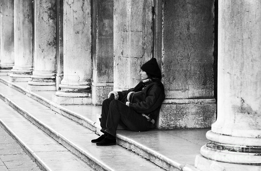 People Photograph - Resting At St. Marks Square by John Rizzuto