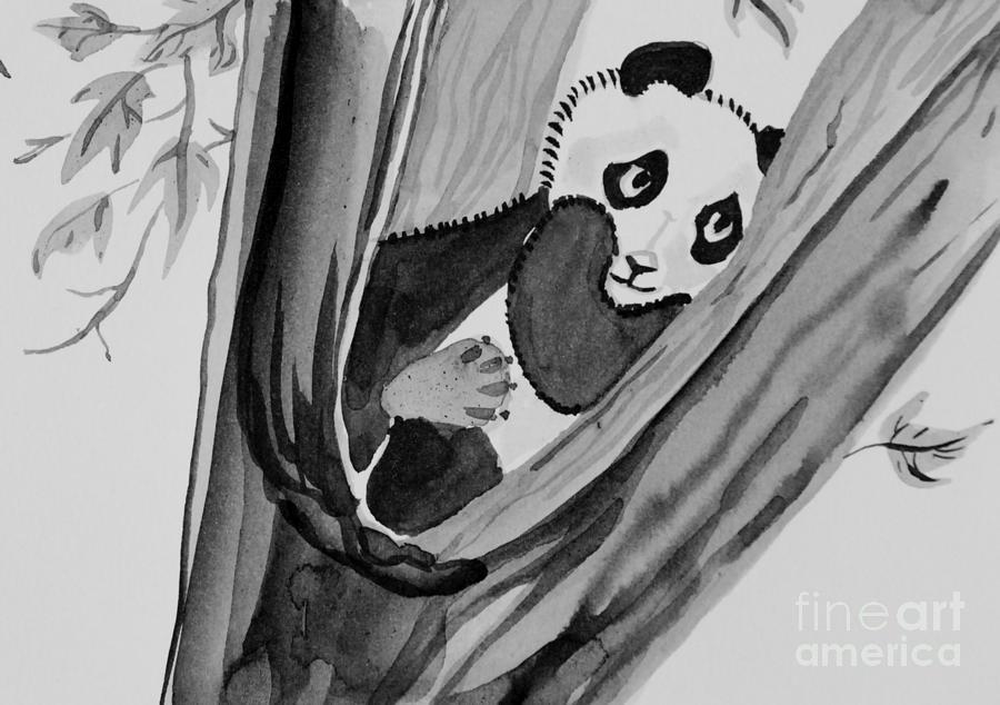 Resting Baby Panda Painting