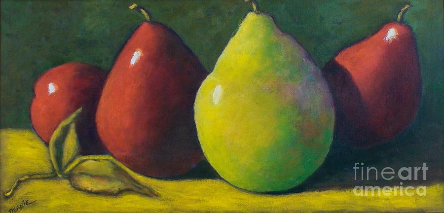Pears Painting - Resting Pears by Deanie Holbrook