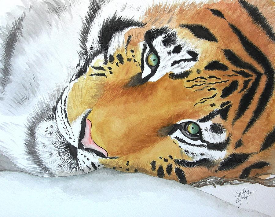 Resting Tiger by Joette Snyder