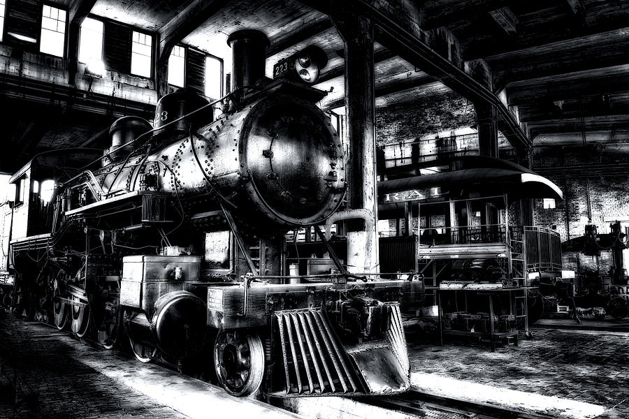 Hdr Photograph - Restoration 1 In Monochrome Hdr by Michael White