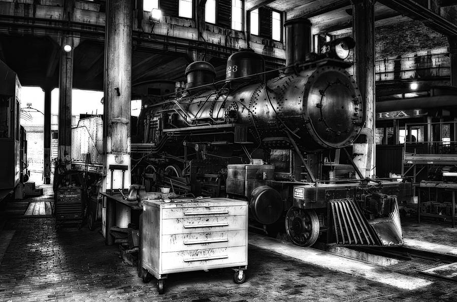 Train Photograph - Restoration 2 In Monochrome Hdr by Michael White