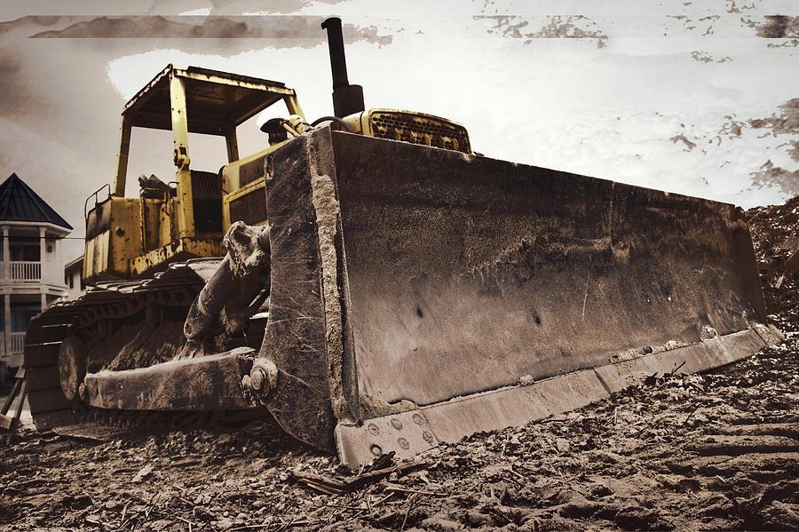 Bulldozer Photograph - Restore The Shore by Tom Gari Gallery-Three-Photography