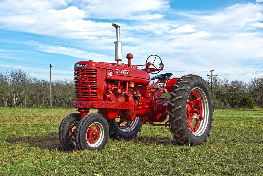 Restored Antique Tractors : Restored farmall tractor photograph by charles beeler