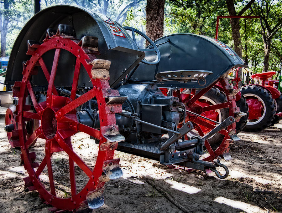 Tractor Photograph - Restored Tractor by Mark Alder