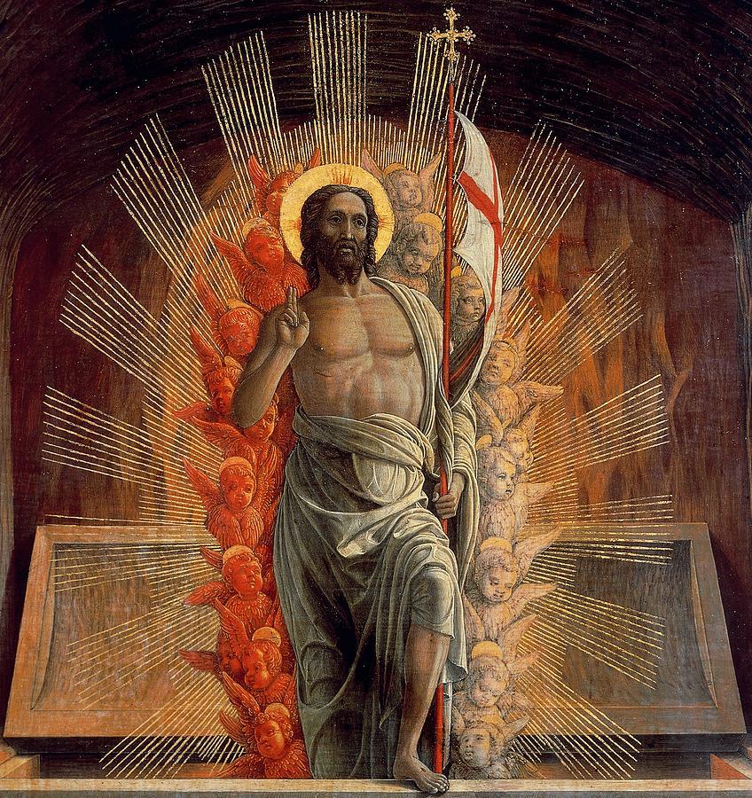 resurrection painting by andrea mantegna