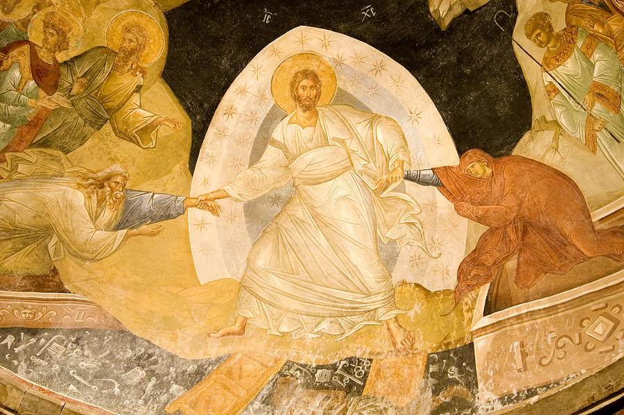 Resurrection fresco in Chora Church Istanbul Turkey Photograph by Lp7