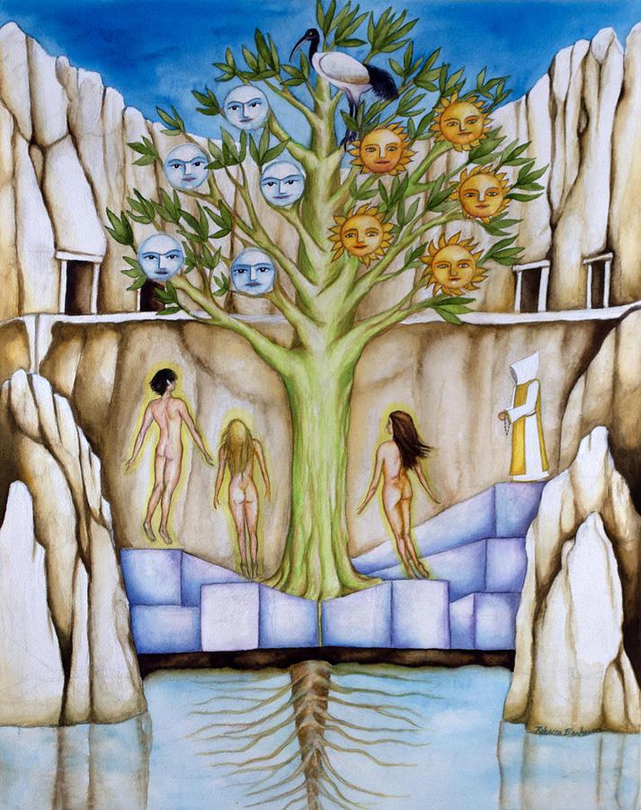 Resurrection Painting - Resurrection Island by Rebecca Barham