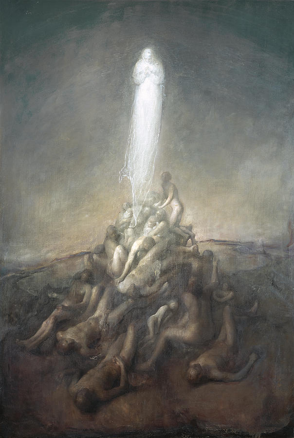 Oil Painting - Resurrection by Odd Nerdrum