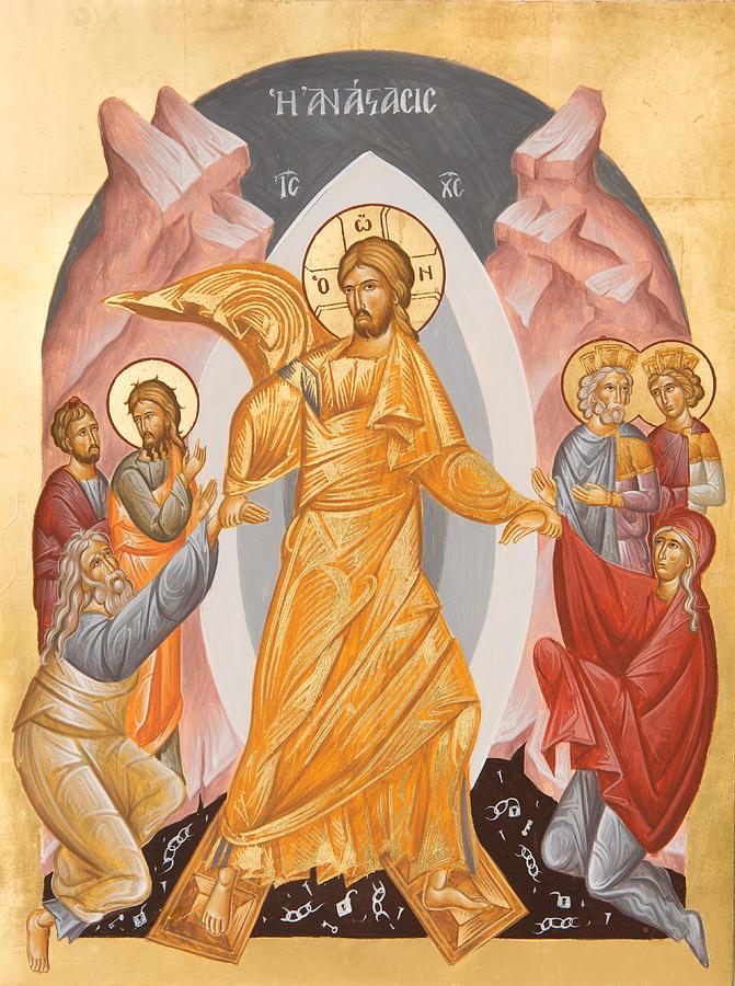Resurrection Painting - Resurrection Of Christ by Julia Bridget Hayes