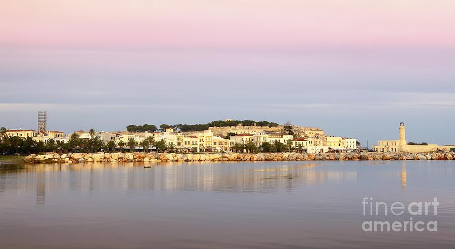 Rethymnon Photograph - Rethymnon City Dawn by Paul Cowan